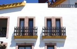 Balcons de fenêtre Image libre de droits
