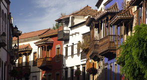 Balcons de Teror Photographie stock