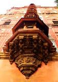 Balcons ornementaux de mahdi de Sarjah au complexe de palais de maratha de thanjavur Photos stock