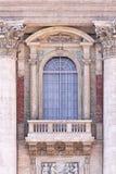 balcony梵蒂冈教皇 免版税库存图片