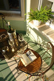 Balcony. With plants and furniture Royalty Free Stock Photos