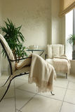 Balcony. With plant and chairs Stock Photography