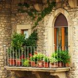 Balcony. A balcony with a flowers Royalty Free Stock Photo