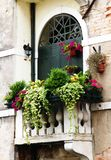 Balcony. A old balcony with flowers Stock Photography