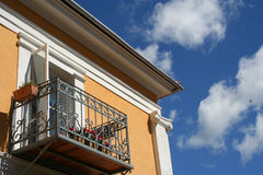 Balcony. Of a classicist house in Estonia Stock Photography