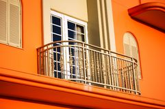 Balcony 2. View of a modern apartment balcony during the day Royalty Free Stock Photos