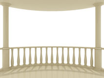 Balcony. On a white background Stock Images