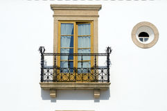 Balcony. Window and balcony at a traditional house at Alentejo Royalty Free Stock Image
