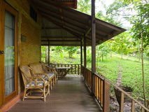 Balcony. Of local Thai house in north of Thailand Stock Photography