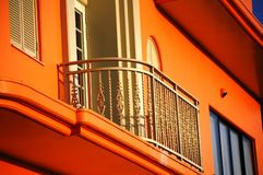 Balcony 3. View of a modern apartment balcony during the day Stock Image