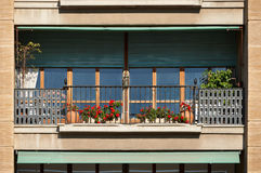 Balcony. Architecture detail, classic balcony from South France, French Riviera Royalty Free Stock Images