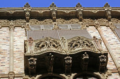 Balcony. In caltagirone palace of magnolie Sicily royalty free stock photos