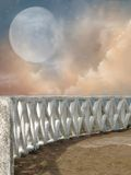 Balcony. With starry sky in the sea Royalty Free Stock Photo