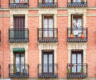 Balcony. Spanish rural balcony in an old building royalty free stock photos