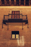A balcony.  The Age of the Renaissance. Bologna, Italy. A balcony. Architectural detail. Spanish College in Bologna. Italy Royalty Free Stock Photo