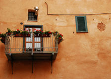 Balcony in Albenga Stock Photo