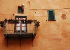 Balcony in Albenga stock photo
