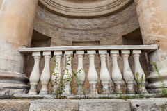 Balcony in the ancient style Royalty Free Stock Photography