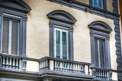 Balcony in an antique building in Florence Royalty Free Stock Image