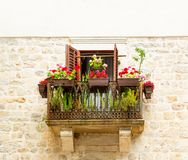 Balcony in apartment building Royalty Free Stock Photo