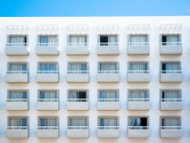 Balcony of apartment building. Balcony of a new apartment building Stock Photo