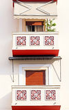 Balcony of apartment houses, Greece Stock Photos
