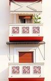 Balcony of apartment houses, Greece Stock Photos