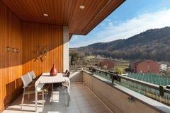 Balcony of an apartment Royalty Free Stock Photo