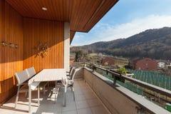 Balcony of an apartment Royalty Free Stock Photos