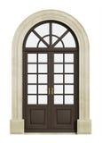 Balcony arch door on white Stock Photos