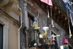 Balcony art in Sicily stock photography