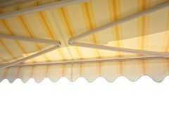 Balcony awning. Isolated on white background royalty free stock photos
