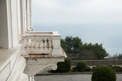 Balcony balustrade in the Renaissance style Royalty Free Stock Photo