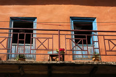 Balcony in Bandipur. Bandipur, Nepal, is a hilltop settlement in Tanahu District. Because of its preserved, old time cultural atmosphere, Bandipur has Royalty Free Stock Images