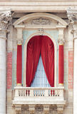 Balcony of the Basilica of St John Lateran in Rome. Balcony of the Basilica of St. John Lateran in Rome, Italy. This balcony is used as pulpit by the Pope during Royalty Free Stock Photography