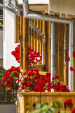Balcony. Beautiful balcony with flower in monastery ramet Royalty Free Stock Photography