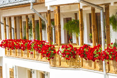 Balcony. Beautiful balcony with flower in monastery ramet Stock Images
