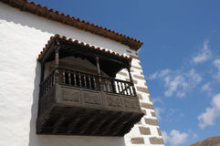 Balcony in Betancuria, Fuerteventura, Spain Royalty Free Stock Image