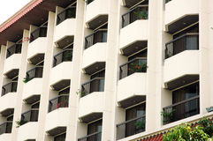 Balcony on a building. Ranks of the balcony on a building Royalty Free Stock Image