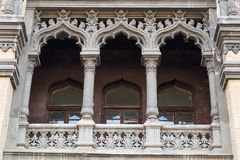 Balcony of the building above the main entrance Stock Images