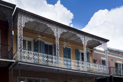 Balcony in a building in the French Quarter in New Orleans, Louisiana, USA Royalty Free Stock Photos
