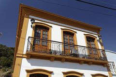 Balcony of a Building in Sao Francisco do Sul Royalty Free Stock Photos