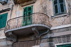 Balcony of  building in split Stock Image