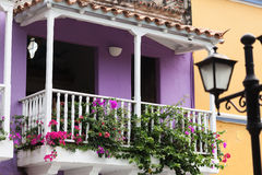 Balcony in Cartagena de Indias. Colombia Stock Image