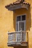 Balcony in Cartagena de Indias. Colombia Royalty Free Stock Photo