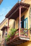 Balcony in Cartagena de Indias. Colombia Royalty Free Stock Photography