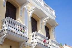 Balcony in Cartagena de Indias. Colombia Royalty Free Stock Photos