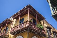 Balcony in Cartagena de Indias. Colombia Stock Photo