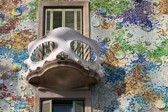 Balcony of the Casa Batllo Royalty Free Stock Image