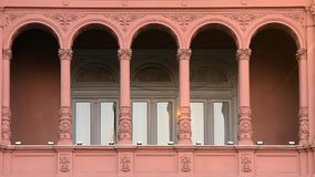 Balcony Of The Casa Rosada. In Buenos Aires stock video footage